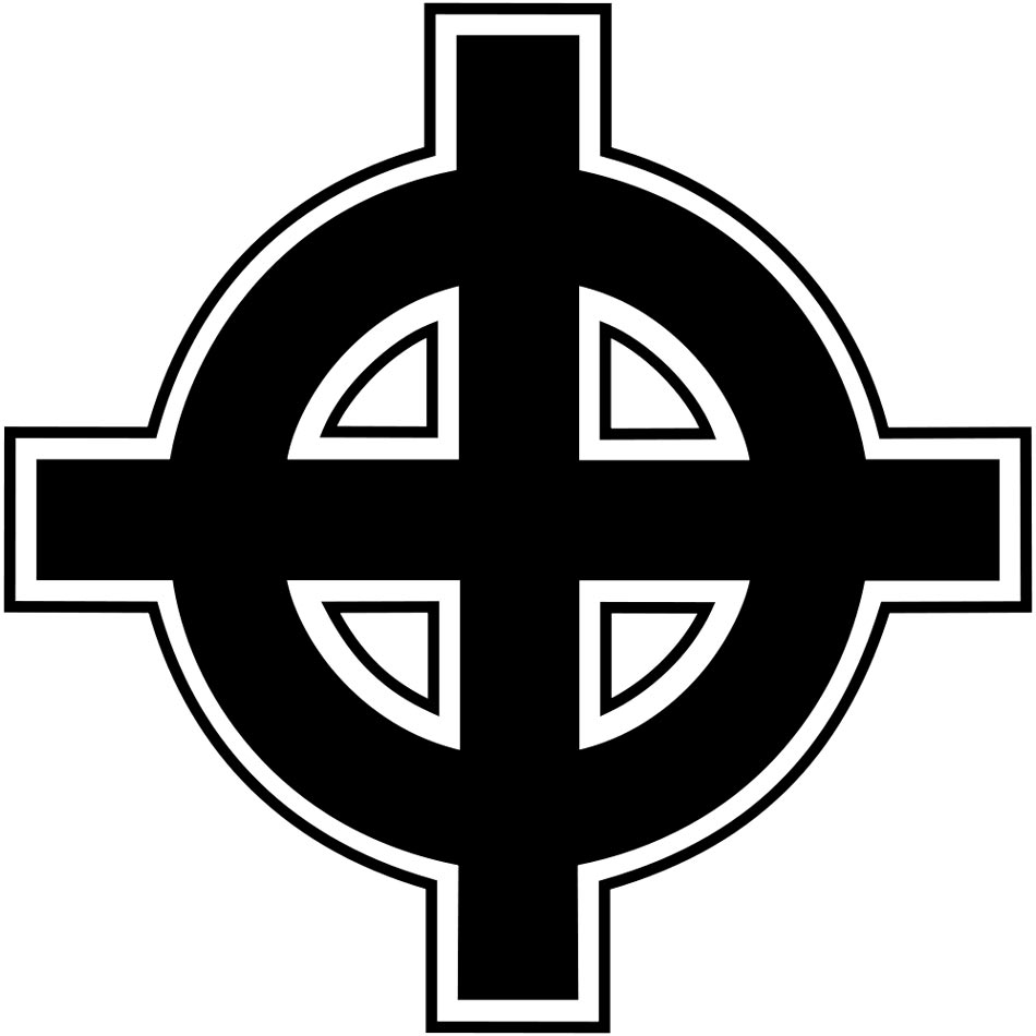 Кельтский крест — символ организации Ку-клукс-клан в США. Используется неонацистскими организациями для символического изображения доминирования «белой расы».