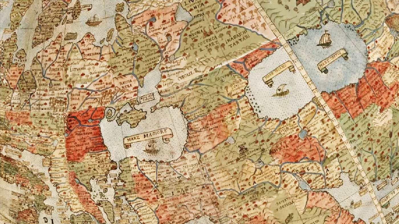Карта Урбано Монте.