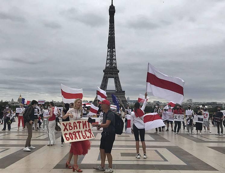 беларусь, франция, акции в поддержку белорусского народа
