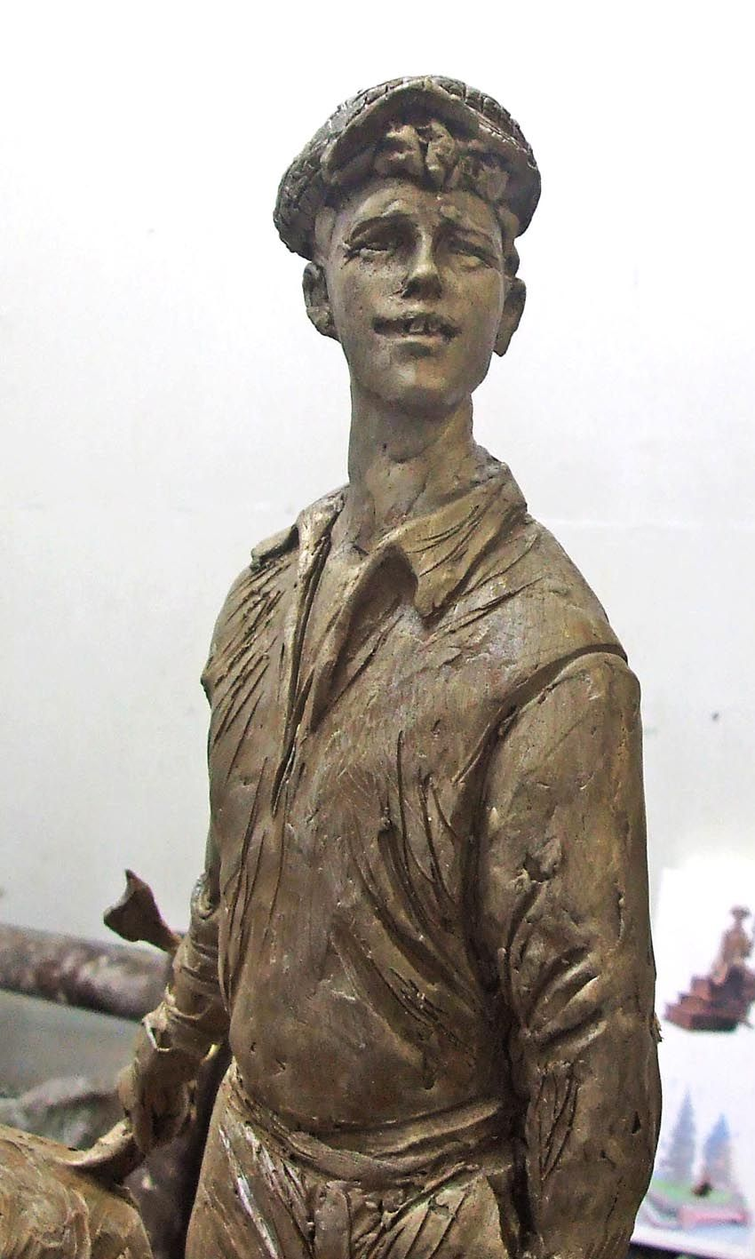 Шура Балаганов. Эскизы скульптуры (2008 год)